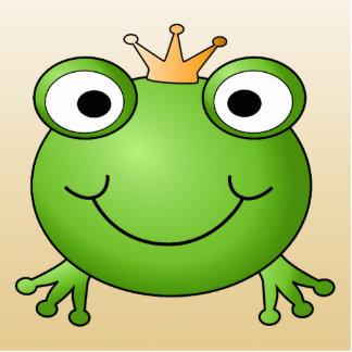 Príncipe de la rana. Rana sonriente con una corona Imán Fotoescultura