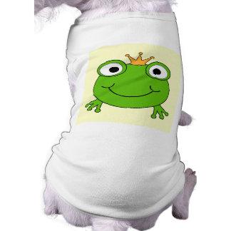 Príncipe de la rana. Rana sonriente con una corona Camiseta De Perro