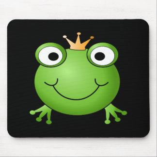 Príncipe de la rana. Rana sonriente con una corona Alfombrilla De Ratón