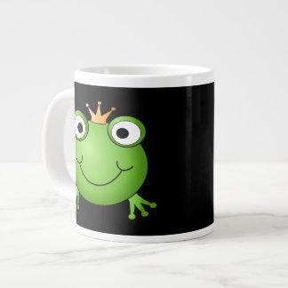 Príncipe de la rana. Rana sonriente con una corona Taza Grande