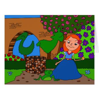 Príncipe de la rana tarjeta de felicitación grande
