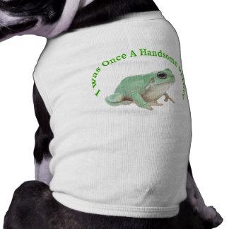 Príncipe de la rana verde playera sin mangas para perro