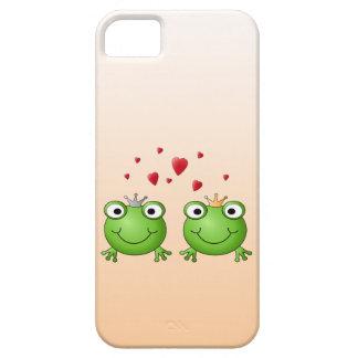 Príncipe de la rana y princesa de la rana con los iPhone 5 protector
