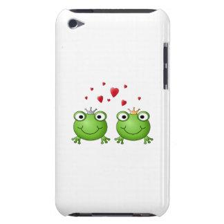 Príncipe de la rana y princesa de la rana, con los iPod touch Case-Mate funda