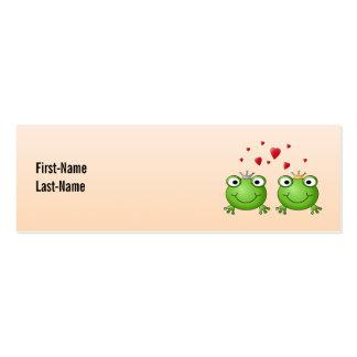 Príncipe de la rana y princesa de la rana, con los tarjetas de visita mini