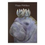 Príncipe de la tarjeta feliz del día de fiesta de