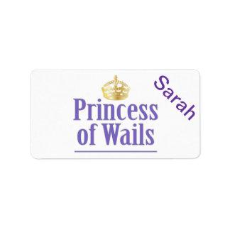 Príncipe de los lamentos/princesa de los lamentos  etiqueta de dirección