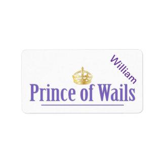 Príncipe de los lamentos/princesa de los lamentos  etiquetas de dirección
