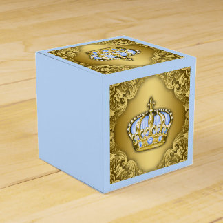 Príncipe de lujo del azul y del oro caja para regalos
