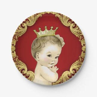 Príncipe de lujo fiesta de bienvenida al bebé del platos de papel