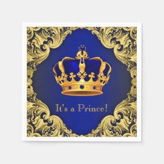 Príncipe de lujo fiesta de bienvenida al bebé del servilletas desechables