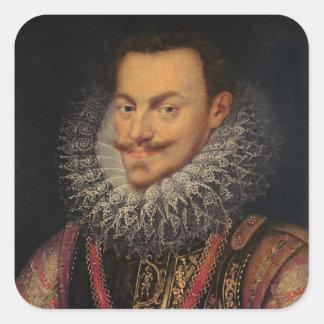 Príncipe de Philip Guillermo del naranja Pegatina Cuadrada