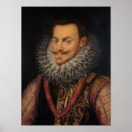 Príncipe de Philip Guillermo del naranja Póster