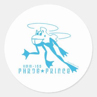 Príncipe de Phrog Pegatina Redonda