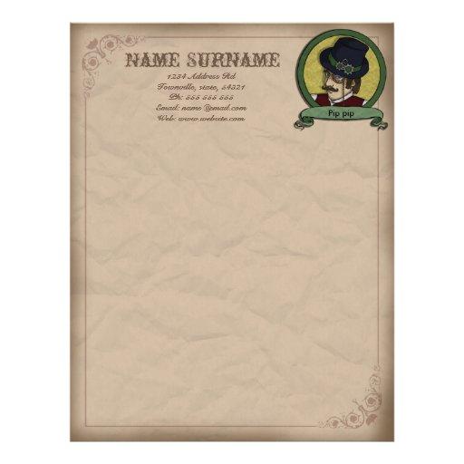 Príncipe de Steampunk, papel con membrete customis Plantilla De Membrete