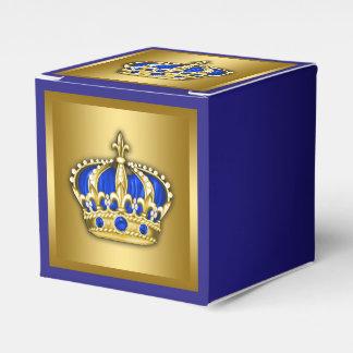 Príncipe del azul real y del oro cajas para regalos