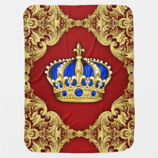 Príncipe del azul real y del rojo mantita para bebé