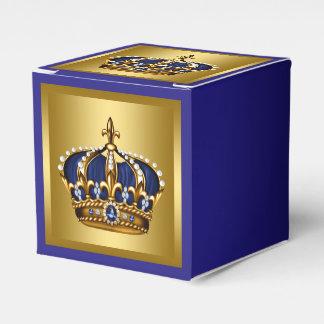 Príncipe del azul y del oro cajas para detalles de boda