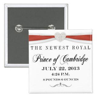 Príncipe del botón del recuerdo de Cambridge Pin