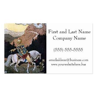 Príncipe del caballero de las noches árabes en el  tarjetas de negocios