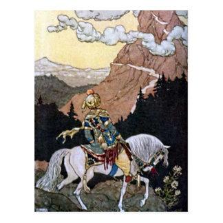 Príncipe del caballero de las noches árabes en el  tarjetas postales