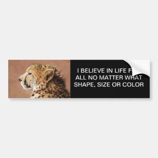 Príncipe del guepardo pegatina de parachoque