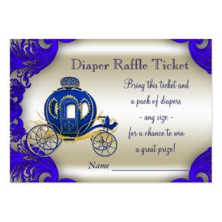 Príncipe Diaper Raffle Tickets Tarjetas De Visita Grandes