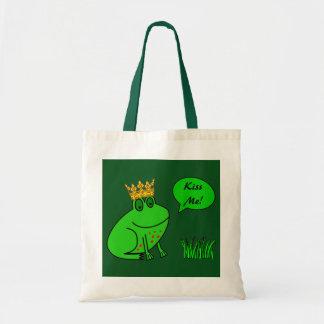Príncipe dibujo animado - bolso de la rana de la bolsa tela barata