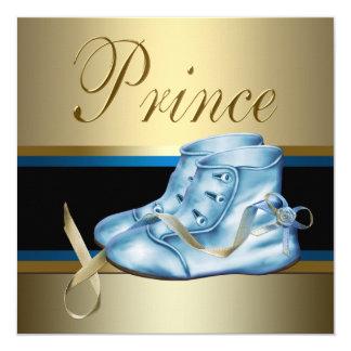"""Príncipe dulce fiesta de bienvenida al bebé de los invitación 5.25"""" x 5.25"""""""