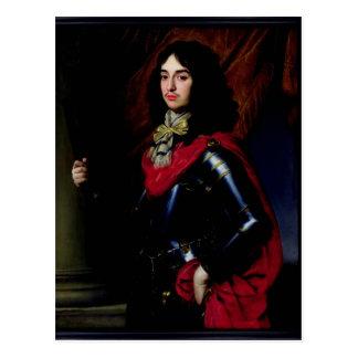 Príncipe Edward del retrato de Palatinado en armad Tarjeta Postal