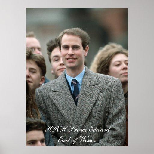 Príncipe Edward Moscú 1989 de HRH Póster