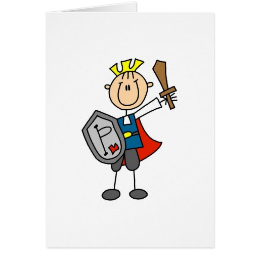 Príncipe el encantar con la tarjeta de la espada y