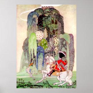 Príncipe el encantar de Kay Nielsen de la bella du Póster