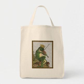 Príncipe el encantar de la rana del vintage bolsa tela para la compra