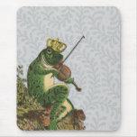 Príncipe el encantar de la rana del vintage tapete de raton