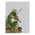 Príncipe el encantar de la rana del vintage postales