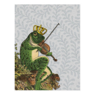 Príncipe el encantar de la rana del vintage tarjetas postales