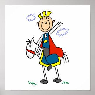 Príncipe el encantar en caballo poster