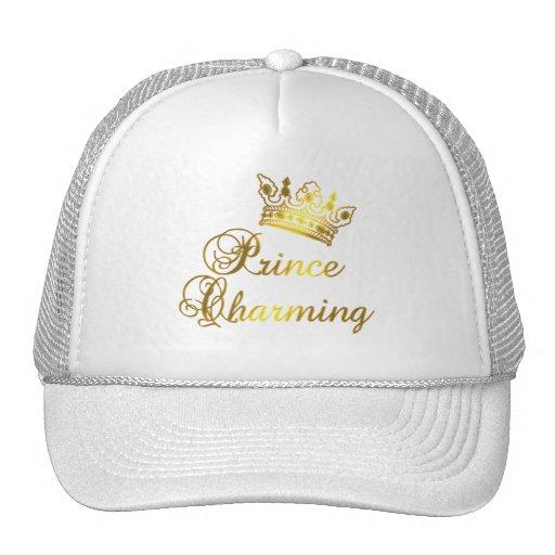 Príncipe el encantar en la camiseta del oro para e gorra
