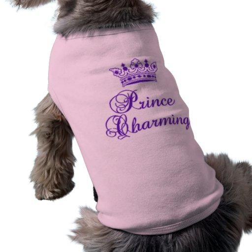 Príncipe el encantar en la púrpura real para el be camisas de mascota