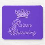 Príncipe el encantar en la púrpura real para el be alfombrillas de ratón