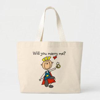 Príncipe el encantar usted me casará bolsa lienzo