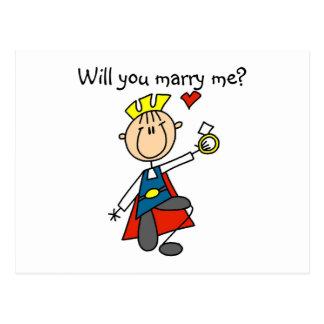 Príncipe el encantar usted me casará postales