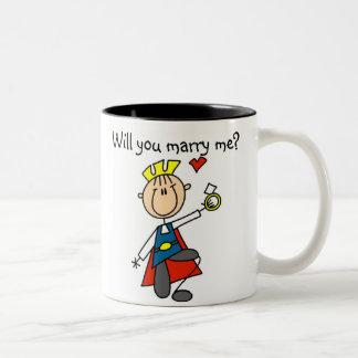 Príncipe el encantar usted me casará taza