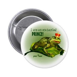 Príncipe encantado Button Pin Redondo De 2 Pulgadas