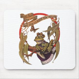 Príncipe encantado Mousepad de la rana Alfombrillas De Raton