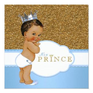 Príncipe étnico fiesta de bienvenida al bebé invitación 13,3 cm x 13,3cm