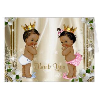 Príncipe étnico princesa Baby Thank You Tarjeta Pequeña