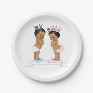 Príncipe étnico princesa fiesta de bienvenida al platos de papel