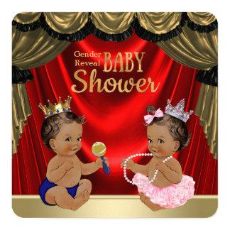 """Príncipe étnico princesa Gender Reveal Shower Invitación 5.25"""" X 5.25"""""""